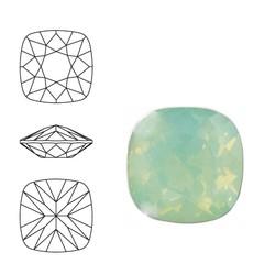 SWAROVSKI ELEMENTS Swarovski Vierkant. 4470-10mm. Crrysolite Opal. Pointed Back.