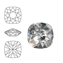 SWAROVSKI ELEMENTS Swarovski Vierkant. 4470-12mm. Crystal. Pointed Back.