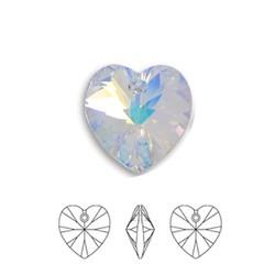SWAROVSKI ELEMENTS Crystal AB Pendant Hartje. 10.3x10mm. met gaatje bovenin