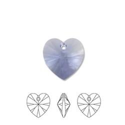 SWAROVSKI ELEMENTS Provence Lavender Pendant Hartje. 10.3x10mm. met gaatje bovenin