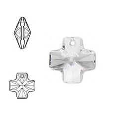 SWAROVSKI ELEMENTS Swarovski Pendant Kruis. 20mm. Crystal.