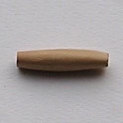 Ovale Bamboe Kraal. 40mm. Naturel.
