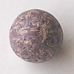 Kraal gemaakt van geperste houtsnippers. 25mm. Violet.