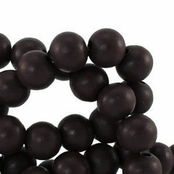 Wooden bead. 11mm. Chocolate brown. per 10 pieces