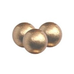 Wooden bead. 11mm. Gold. per 10 pieces