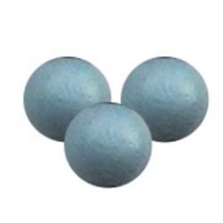 Houten kraal. 11mm. Light Blue. per 10 stuks