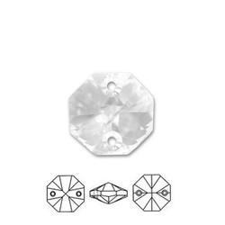 SWAROVSKI ELEMENTS Swarovski Pendant Hanger. 12mm. Crystal. Octagon. 2 gaats.