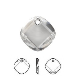 SWAROVSKI ELEMENTS Swarovski Pendant Hanger. 18mm. Crystal. Vierkant en Plat