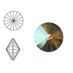 SWAROVSKI ELEMENTS Rivoli steen. MM12.0. 12mm. Crystal Verde.