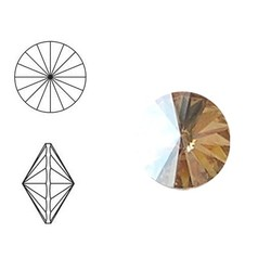 SWAROVSKI ELEMENTS Rivoli steen. MM12.0. 12mm. Crystal Golden Shadow.