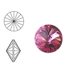 SWAROVSKI ELEMENTS Rivoli steen. MM12.0. 12mm. Roze.