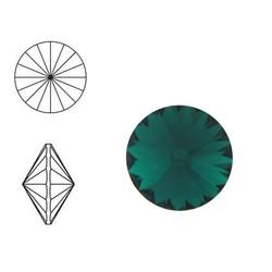 SWAROVSKI ELEMENTS Swarovski Rivoli steen (punt). MM12.0. 12mm. Emerald.
