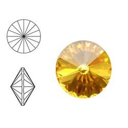 SWAROVSKI ELEMENTS Swarovski Rivoli steen (punt). MM12.0. 12mm. Sunflower.