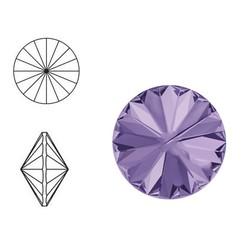 SWAROVSKI ELEMENTS Swarovski Rivoli steen (punt). MM12.0. 12mm. Violet.