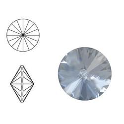 SWAROVSKI ELEMENTS Swarovski Rivoli steen (punt). MM12.0. 12mm. Chrystal Blue Shade.