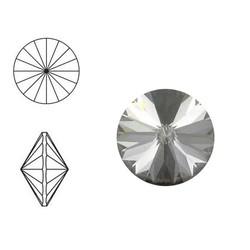 SWAROVSKI ELEMENTS Swarovski Rivoli puntsteen. MM14.0. 14mm. Crystal Silver Shade.