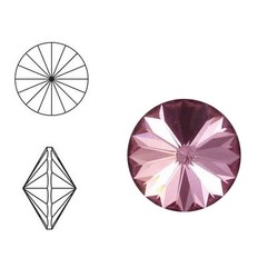 SWAROVSKI ELEMENTS Rivoli puntsteen. MM14.0. 14mm. Antique Pink.