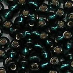 PRACHT Rocailles. Emerald Groen met zilverkern. 4,5mm. ca. 17 gram voor