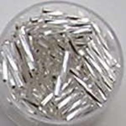 PRACHT Stiftkraal. 15mm. Crystal. Getwist met zilverkern. 17gr. in een doosje.