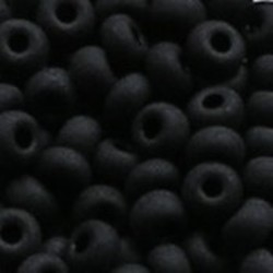 PRACHT Rocailles. Mat Zwart. 4,5mm. Mooi tussenkraaltje. ca. 17 gram voor