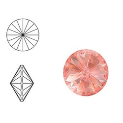 SWAROVSKI ELEMENTS Rivoli puntsteen. MM14.0. 14mm. Rose Peach.