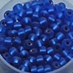 PRACHT Rocailles. Zilverkern mat Blauw. 4,5mm. Mooi tussenkraaltje. ca. 17 gram voor
