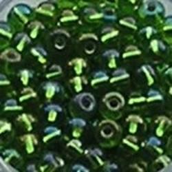PRACHT Rocailles. Zilverkern Groen AB. 4,5mm. Mooi tussenkraaltje. ca. 17 gram voor