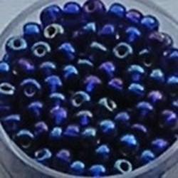 PRACHT Rocailles. Zilverkern Blauw AB. 4,5mm. Mooi tussenkraaltje. ca. 17 gram voor
