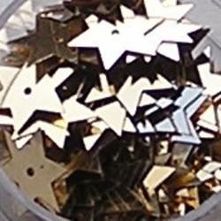 PRACHT Pailletten. Goudkleurig. 10mm. Stervorm. 135 stuks voor
