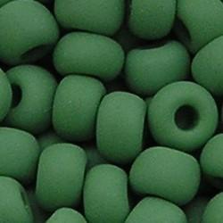 PRACHT Rocailles. Mat Groen. 4,5mm. Mooi tussenkraaltje. ca. 17 gram voor