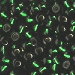 PRACHT Rocailles met zilverkern Emerald. 2.6mm. Hoge kwaliteit ca. 17 gram voor