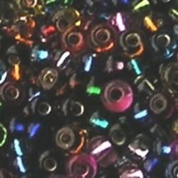 PRACHT Rocailles met zilverkern Mix. 2.6mm. Hoge kwaliteit ca. 17 gram voor