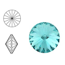 SWAROVSKI ELEMENTS Rivoli puntsteen. MM14.0. 14mm. Light Turquoise.
