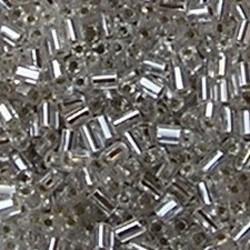 PRACHT Stiftkraal. 2mm. Crystal met zilverkern. 17gr. in een doosje.