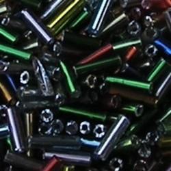PRACHT Stiftkraal. 6mm. Mix met zilverkern. 17gr. in een doosje.