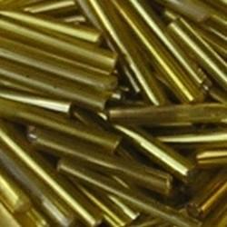 PRACHT Stiftkraal. 15mm. Geel met zilverkern. 17gr. in een doosje.