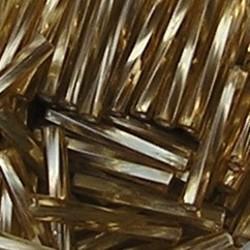 PRACHT Stiftkraal. 15mm. Goud. Getwist met zilverkern. 17gr. in een doosje.