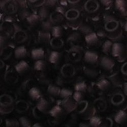 MIYUKI KRALEN Delica Beads 11/0. Tube 7.2 gram. Matte Transparant Mauve.