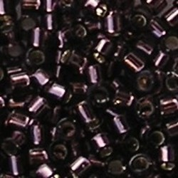 MIYUKI KRALEN Delica Beads 11/0. Tube 7.2 gram. Silverlined Mauve.