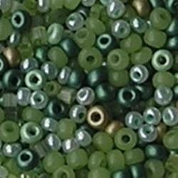 PRACHT Rocaillesmix. 2.6mm en 2x2mm. Hoge kwaliteit ca. 17 gram Greencolors voor