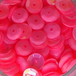 PRACHT Pailletten. 6mm. PM Pink. 7gr. in een doosje