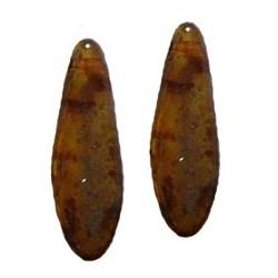 Dagger bead. 5x16mm. Tan Travertin Travertin.