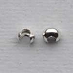 Sterling silver crimp bead. 4mm.