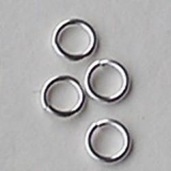 Sterling zilveren Jumplock aanbuigring. 6mm. Openbuigen en dicht klikken.