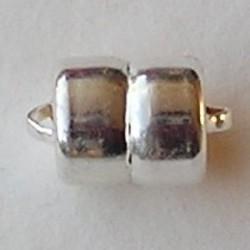 Magneetsluiting. Silverplated. 7.5x12.5 mm. (niet voor mensen met pacemaker)