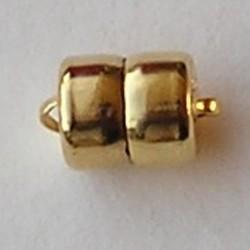 Magneetsluiting. Goldplated. 7.5x12.5 mm. niet voor mensen met pacemaker