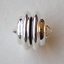 Magneetsluiting. Silverplated. 11 mm. (niet voor mensen met pacemaker)