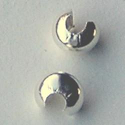 Sterling Zilveren Knijpkraalverberger. 4.8mm.