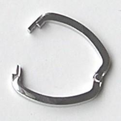 Shortner. Sluiting voor het vastzetten van meerdere kettingen. 20x26mm. Zilverkleurig.