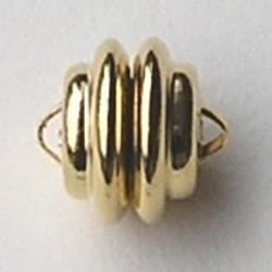 Magneetsluiting. Goldplated. 11 mm. (niet voor mensen met pacemaker)